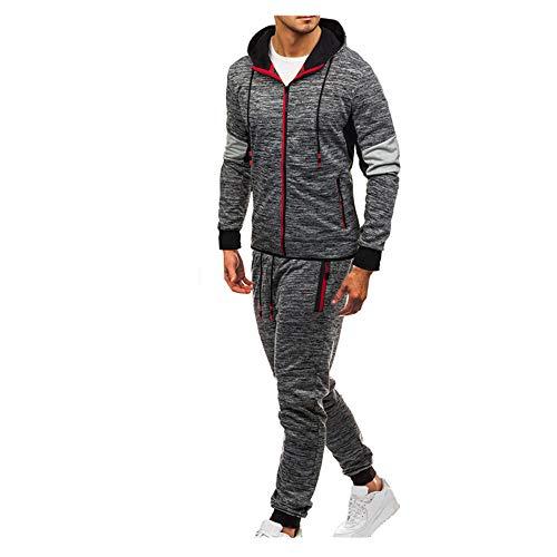 Celucke Herren Jogginganzug Trainingsanzug Sportanzug Slim Fit,Jacke Kapuzenjacke Sweatjacke+Hosen Jogginghose