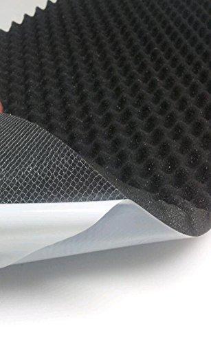 Akustikschaumstoff, Noppenschaumstoff, Selbstklebend Profilplatte, Dämmung 100cm x 50cm x (variant)) (100 x 50 x 5, Anth/ Schwarz)