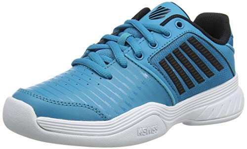 K-Swiss Performance KS TFW Court Express Carpet WHT Tennisschuh, Algiers Blue/Black/White, 36 EU