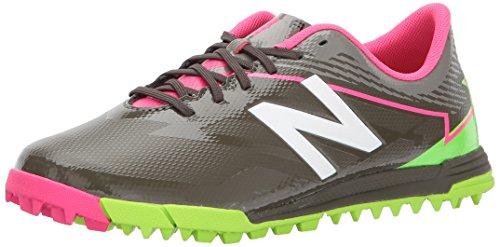 New Balance Unisex Kinder Furon 3.0 Dispatch TF Football Boots Fitnessschuhe, Grün (Military Dark Triumph Green/Alpha Pink Military Dark Triumph Green/Alpha Pink), 38.5