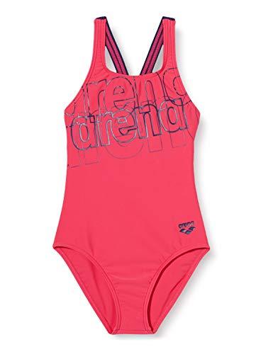ARENA Mädchen Sport Badeanzug Spotlight, Freak Rose-Navy, 152
