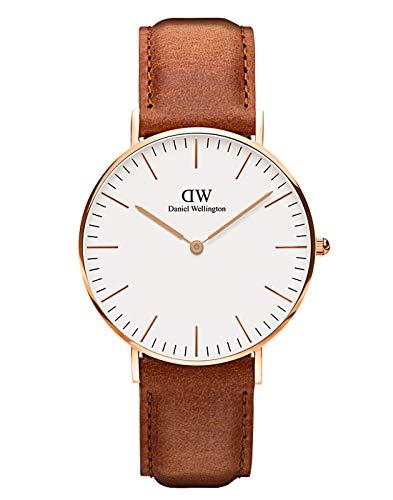Daniel Wellington Classic Durham, Hellbraun/Silber Uhr, 36mm, Leder, für Damen und Herren