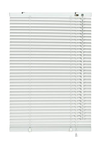 Deco Company Alu-Jalousie zum Klemmen, Sicht-, Licht- und Blendschutz, Alle Montage-Teile inklusive, Aluminium-Jalousie, Weiß, 95 x 130 cm (BxH)