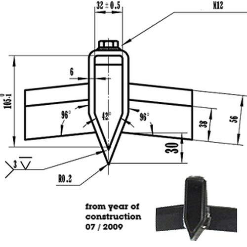 ATIKA Ersatzteil | Spaltkreuz 32mm Aufnahme für Holzspalter ASP 10 N