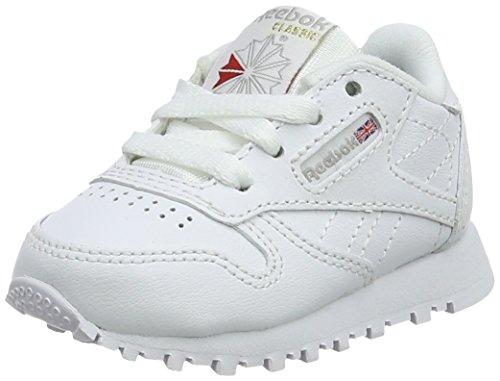 Reebok Jungen Classic Leather Fitnessschuhe - Weiß (White 000) , 26.5 EU (9.5 UK)