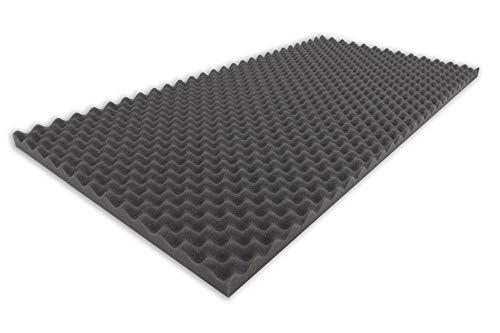 Dibapur Premium Noppenschaumstoff (ca.100cm x 200cm x 3cm) Raum Akustik Schaumstoff Akustikschaumstoff Schall Dämmung