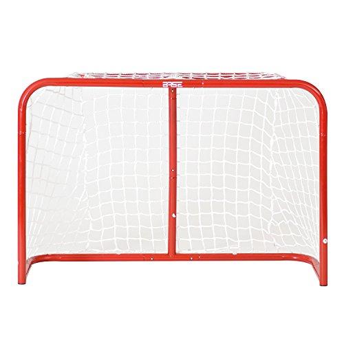"""BASE - Streethockeytor 32"""" (81x53x30cm) I incl. 2 Minischläger & Ball I Outdoor-Tor I Tor mit Metallrahmen I Tor für den Garten I Tor für Hockeybälle & Pucks I Streethockey-Training"""
