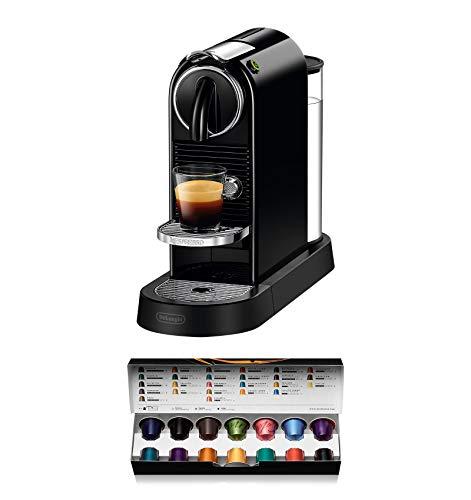 De'Longhi Nespresso Citiz EN167.B Kapselmaschine, Hochdruckpumpe und ideale Wärmeregelung ohne Aeroccino (Milchaufschäumer), Energiesparfunktion, Schwarz