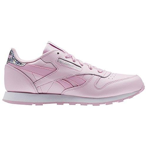 Reebok Mädchen Classic Leather Pastel Laufschuhe, Rosa (Charming Pink/White), 38 EU