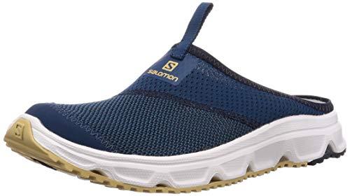 Salomon Herren Erholungsschuhe, RX SLIDE 4.0, Farbe: blau (Poseidon/navy Blazer/Taos Taupe) Größe: EU 43 1/3