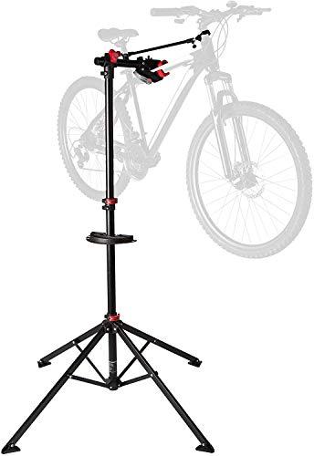 Ultrasport Fahrradmontageständer, robuster Fahrradständer, für Mountainbike und alle Fahrradarten bis 30 kg, inkl. Werkzeugschale+Magnetfach, 360° drehbar, lackschonender Schnellspann-Haltekralle