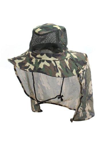 sourcingmap® Herren Mesh Top flecktarn Angelnhut Sonnenhut Kappe Hut Mütze Hat Cap