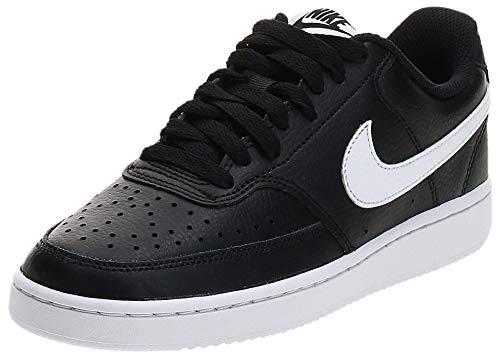 Nike Damen Court Vision Low Sneaker, Black/White, 39 EU