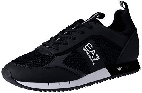 Emporio Armani EA7 Laces U Sneaker Herren Schwarz - 40 - Sneaker Low