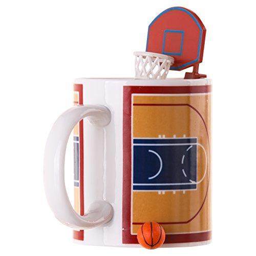 Winkee Basketball Tasse mit Ball und Korb/Kaffeebecher/Mug