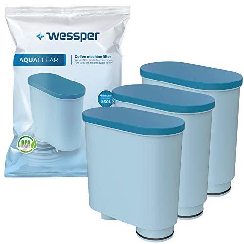 Wessper Wasserfilter kompatibel mit Philips AquaClean CA6903/10 CA6903/22 CA6903 Kalkfilter, Aqua Clean Filterpatrone für Saeco und Philips Kaffeevollautomaten, 3er Pack