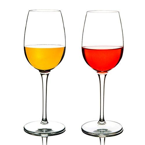 MICHLEY Unzerbrechliche Rotweingläser, Tritan-Kunststoff bruchsicher Weinbecher Pokal Set, Spülmaschinenfest, BPA-frei, 360ml, 2er Set