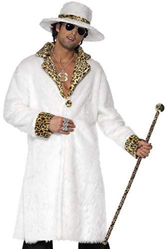 Smiffys, Herren Pimp Kostüm, Fellimitat Mantel, Hut und Hose, Größe: M, 38135