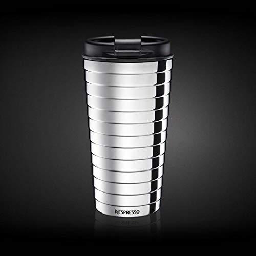 Nespresso Touch Reisebecher, aus Edelstahl, 16,50 cm, Silberfarben