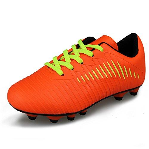 JABASIC Unisex-Kinder Classic Fußballschuhe Sportlich Draussen Boots (32,Orange)