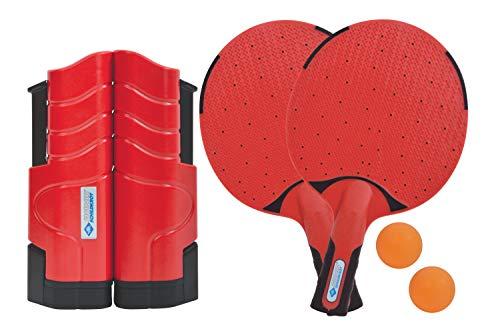 Donic-Schildkröt Tischtennis-Set Outdoor Flex, 2 wasserfeste Kunststoffschläger, 2 Bälle, inkl. ausziehbarer und längenverstellbarer Netzgarnitur, in praktischer wiederverschließbarer Dose, 788647
