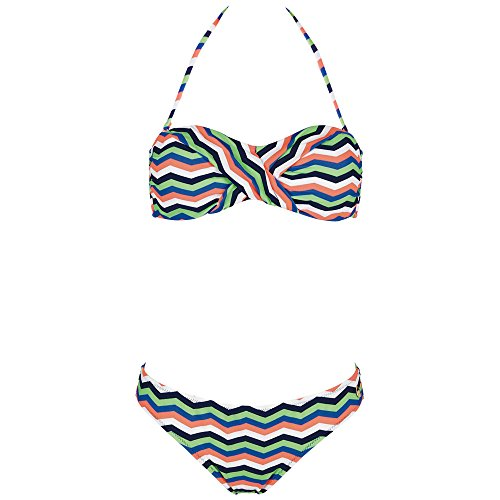 Chiemsee Damen Ebony Bandeau Bikini, Zigzag Multi, XL