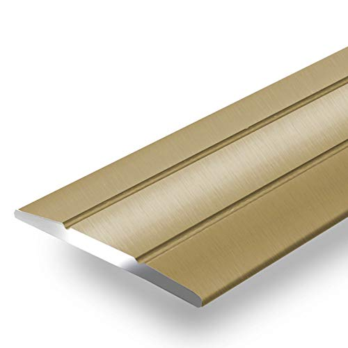 Alu Übergangsprofil Firm | C Form | selbstklebende Abdeckleiste für Fugen | Breite 36 mm | eloxiert Gold | 90 cm