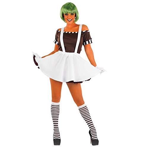 Fun Shack Weißes Schokoladenfabrik Arbeiter Kostüm für Damen, Karneval und Halloween - S