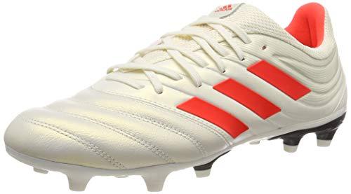 adidas Herren Copa 19.3 Fg Fußballschuhe, Weiß (Off White/Solar Red/Core Black) , 40 2/3 EU