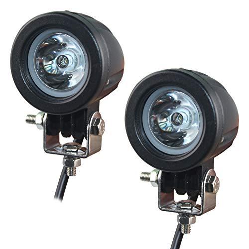 Motorrad Zusatzscheinwerfer LED, EKLAMP 2inch 10W Motorrad Nebelscheinwerfer LED, Scheinwerfer Auto, Arbeitsscheinwerfer Spotlight,6500K IP67 Offroad Zusatzscheinwerfer, Bar Car, ATV(2Pcs) (Round 10W)