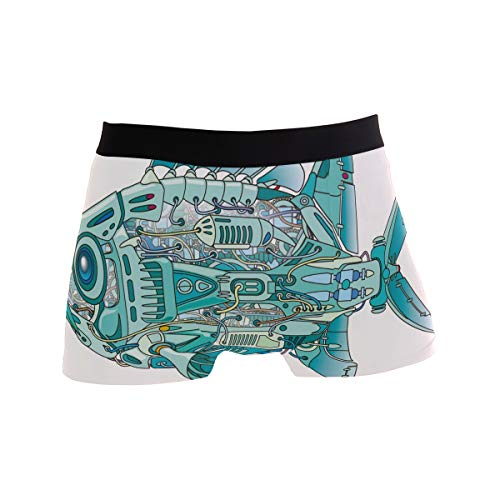 BONIPE JERECY Herren Unterhose Boxershorts mit Maschinenwäsche und Fisch, Stretch, atmungsaktiv, niedrige Höhe, Größe S Gr. L, Mehrfarbig