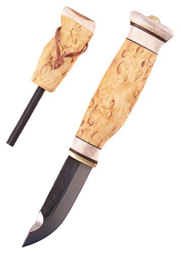 Finnenmesser - Wood-Jewel - 23J Jätkänpuukko Messer mit Feuerstahl - Outdoor Jagdmesser