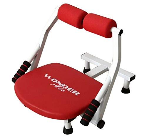 Tookang 6 in 1 Bauchtrainer Fitnessgerät ,klappbar Rückentrainer & Bauchtrainer Anti-Rutsch ,Gezieltes Core Smart Kompakter Krafttraining Allround-Trainer Muskeltrainer Rot + mat