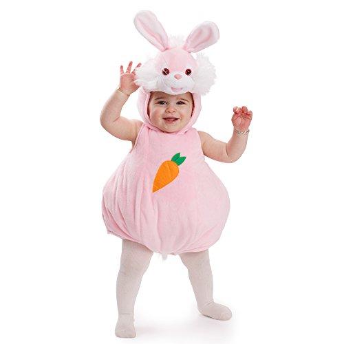 Dress Up America 869-12-24 Häschen Halloween-Tier-Outfit-Größe 12-24 Monate Unisex-Baby Bunny Kaninchen Fancy Kostüm Für Kinder, rosa, (Gewicht: 10-13,5 kg, Höhe: 74-86 cm)