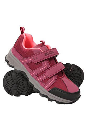Mountain Warehouse Cannonball Wanderschuhe für Kinder - Allwetterschuhe für Kinder, Bequeme Trekkingschuhe, strapazierfähige Laufsohle Fuchsia 34
