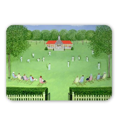 The Cricket Match, 1981 (oil on board) by.. - Mousepad - Natürliche Gummimatten bester Qualität - Mouse Mat