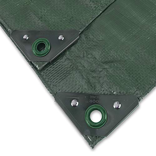 NOOR Abdeckplane Profi 140g/m2 Grün I 2 x 2 m I Allzweckplane für Schutz vor Witterung I Ideal geeignet für Gartenbereich I UV-stabilisiert, beidseitig beschichtet, wasserfest und abwaschbar
