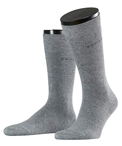 ESPRIT Herren Basic Uni 2-Pack M SO, Grau (Light Grey Melange 3390), 39-42