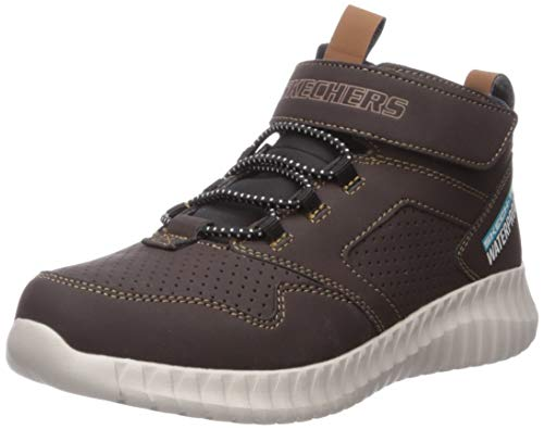 Skechers Boys' GORE & STRAP RETRO SNEAKE Trainers, Brown (Chocolate Synthetic/Black & Brown Trim Chocolate), 12.5 (31 EU)