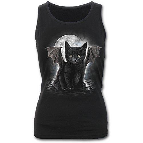 Spiral Direct Damen Bat Cat-Razor Back Top, Schwarz (Black 001), 38 (Herstellergröße: Medium)