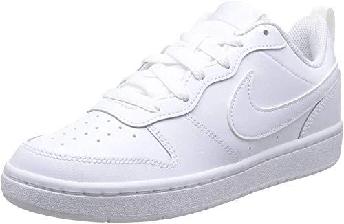 Nike Unisex Kinder Court Borough Low 2 (GS) Basketballschuhe, Weiß (White/White/White 100), 39 EU