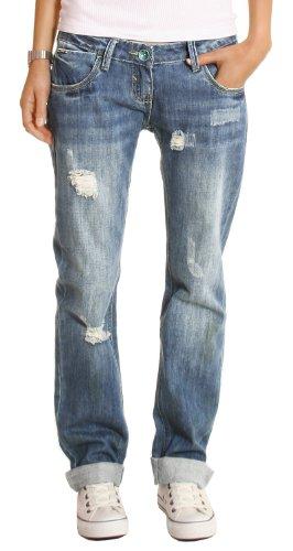 bestyledberlin Damen Jeans Hosen, Baggyjeans, Damen Boyfriendjeans, Hüftjeans j1z 38/M