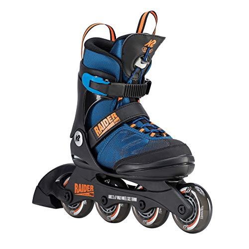K2 Jungen Inline Skates RAIDER PRO - Schwarz-Blau-Orange - S (29-34 EU; 10-1 UK; 11-2 US) - 30D0221.1.1.S