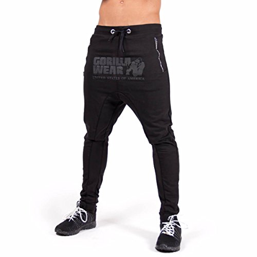 Gorilla Wear Alabama Drop Crotch Joggers - Black, XL