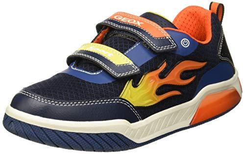 Geox Jungen J INEK Boy C Sneaker, Blau (Navy/Orange C0659), 32 EU