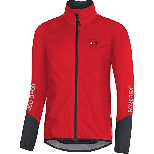 GORE Wear C5 Herren Fahrrad-Jacke GORE-TEX, L, Rot/Schwarz