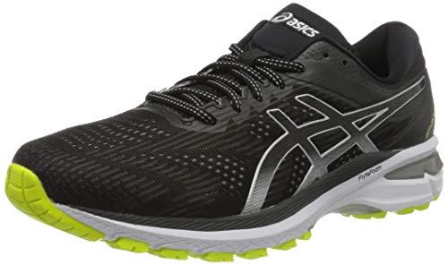 ASICS Herren Gt-2000 8 Lite Show Running Shoe, Black/Pure Silver, 41.5 EU