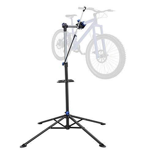 Yaheetech Fahrradmontageständer Reparaturständer Höhenverstellbar Montageständer für Fahrräder mit Stativ 360 Grad