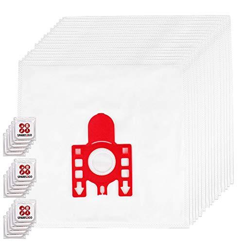 Spares2go FJM Hyclean Staubsaugerbeutel, kompatibel mit Miele S200-299 S241 256i S290 Staubsauger (Packung mit 15 Beuteln + Lufterfrischer-Tabs)