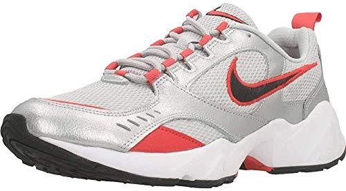 Nike Herren Air Heights Laufschuh, Grey Fog/Negro/Metallic Silver/Track Red, 44 EU